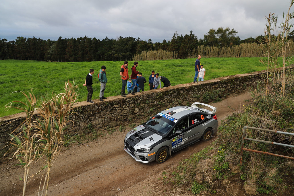 41 MENDERES OKUR Tarik (tur), UFUK ULUOCAK Zafer (tur), SUBARU IMPREZA, action during the 2018 European Rally Championship ERC Azores rally,  from March 22 to 24, at Ponta Delgada Portugal - Photo Jorge Cunha / DPPI