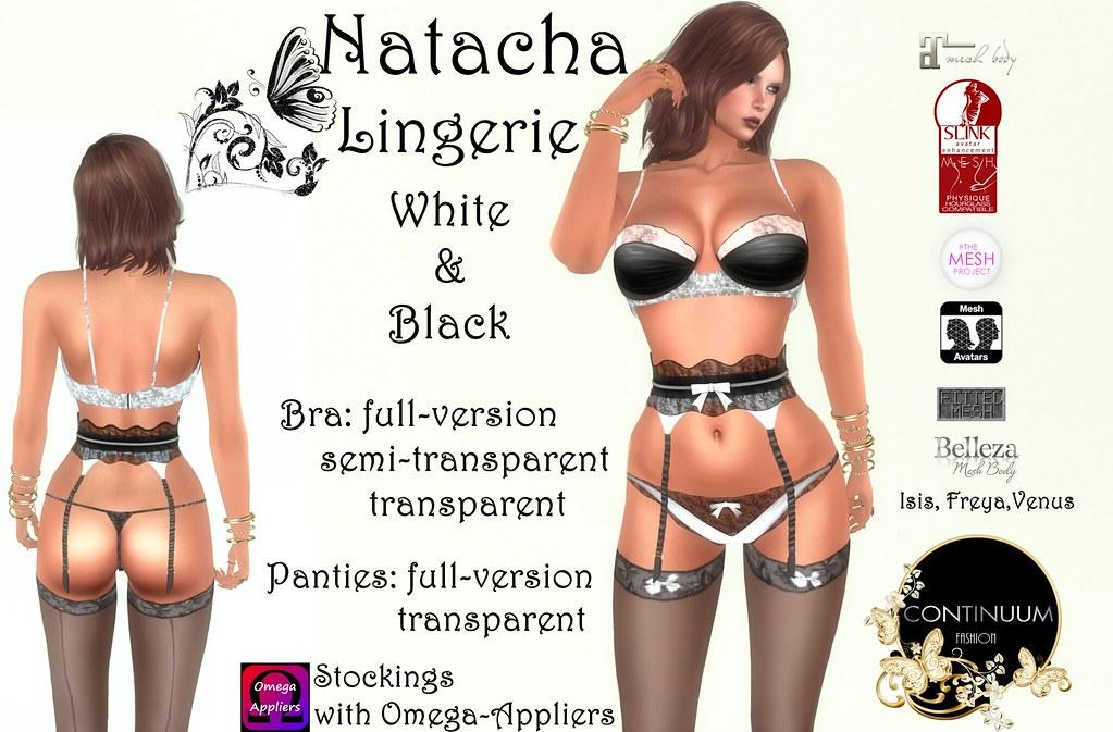 Continuum Natacha Lingerie white&black - TeleportHub.com Live!