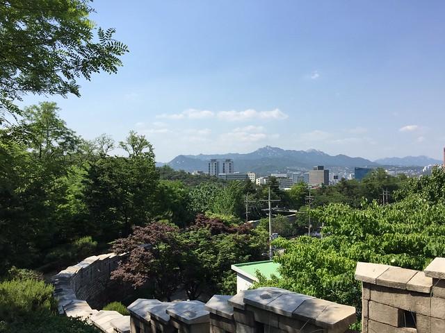 Mountains Seoul wall