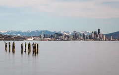Seattle and Cascades from Bainbridge Island