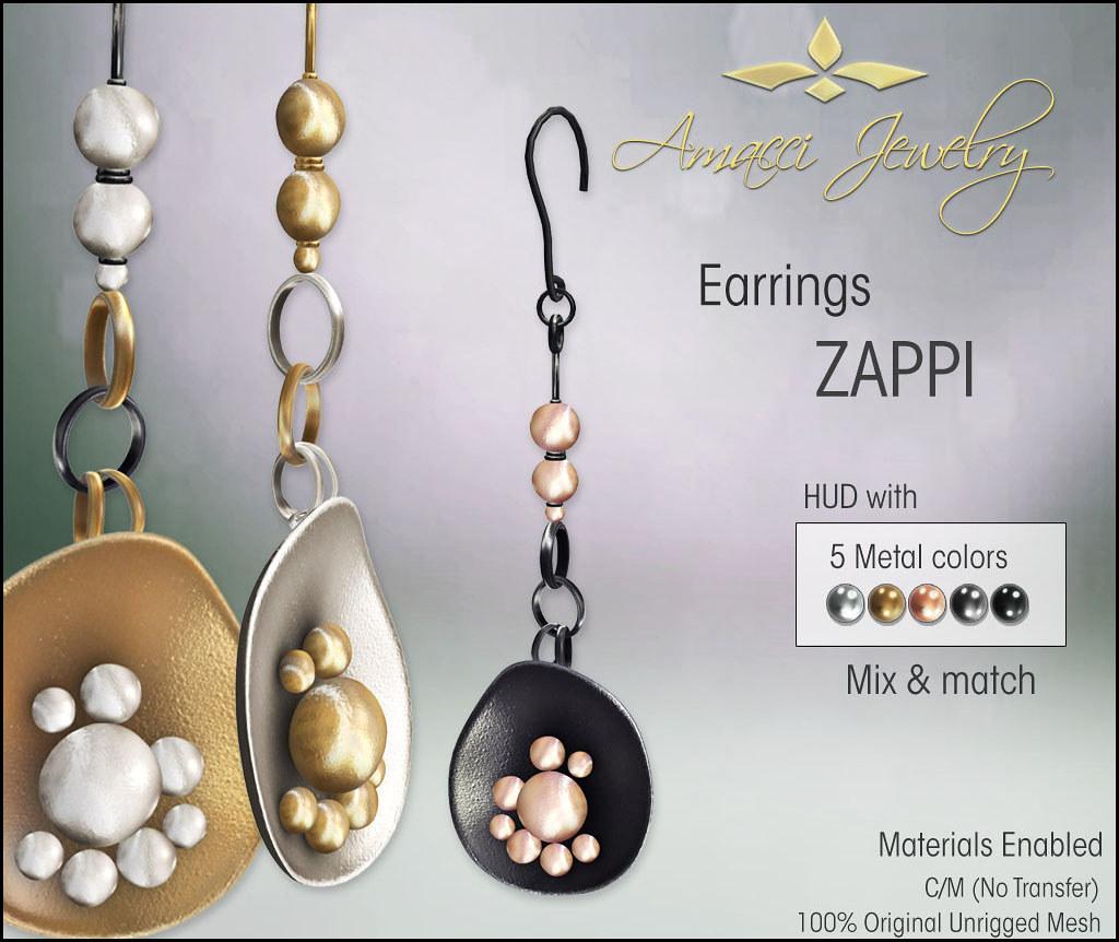 Amacci Zappi Earring - TeleportHub.com Live!