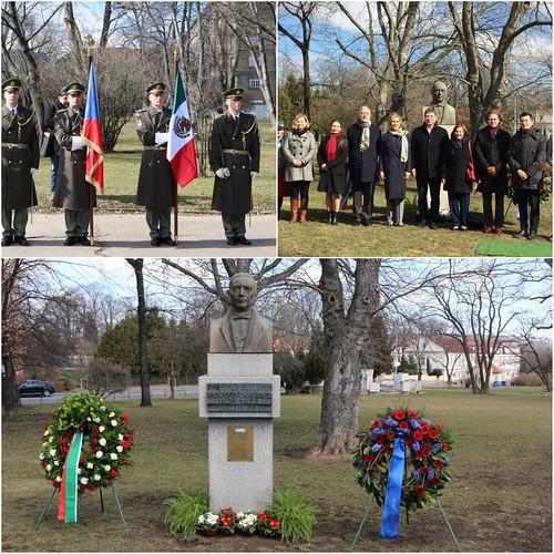 Acto conmemorativo del CCXII natalicio de Benito Juarez en Praga
