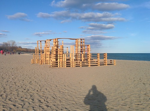 Rising Up (1) #toronto #winterstations #beaches #woodbinebeach #risingup #publicart #latergram
