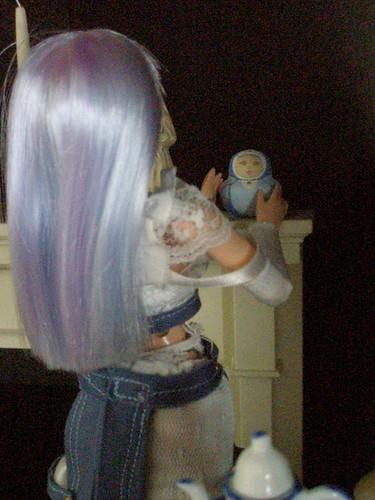 mini matryoshka for 1/6 scale doll