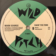 MAIN SOURCE:FAKIN' THE FUNK(LABEL SIDE-B)