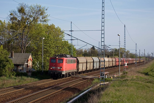 DB 140 443 + Güterzug / goederentrein / freight train - Priort