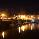 Night lights at Preston Docks