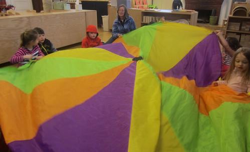 Great White shark parachute game