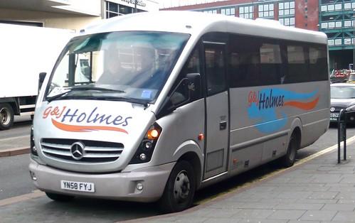 YN58 FJY 'G & J Holmes', Clay Cross, Derby's. Mercedes-Benz Vario 0816D / Plaxton Cheetah 2 on 'Dennis Basford's railsroadsrunways.blogspot.co.uk'