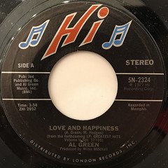 AL GREEN:LOVE AND HAPINESS(LABEL SIDE-A)