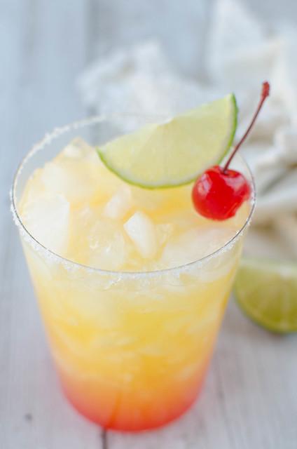 Tequila Sunrise Margaritas