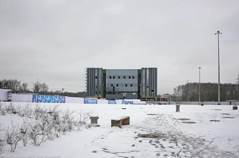 Москва. Строительство ТПУ Ховрино.