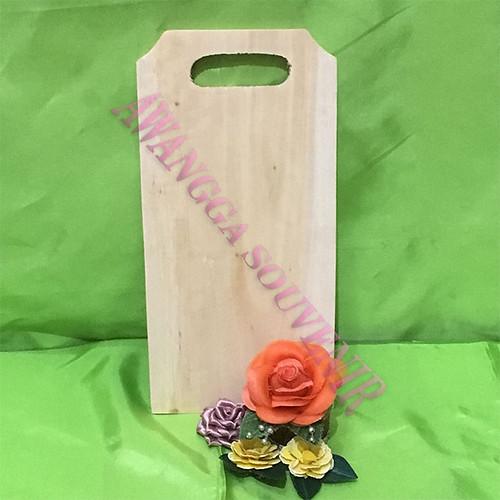 Talenan kayu Tas Kotak Uk.12x24.5cm