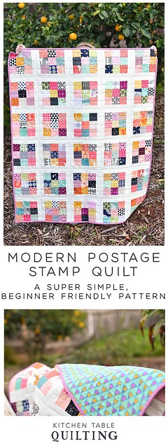 Modern Postage Stamp Quilt Pattern - Kitchen Table Quilting