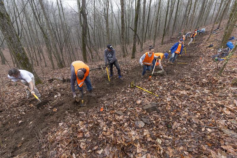 Volunteers, Cumberland Trail, Renegade Mountain Segment, Cumberland County, Tennessee