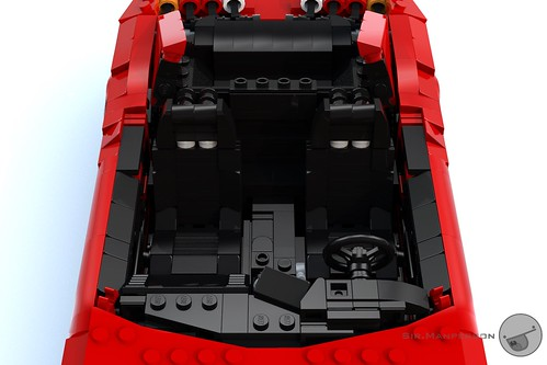 Toyota Supra interior - 16-wide - Lego