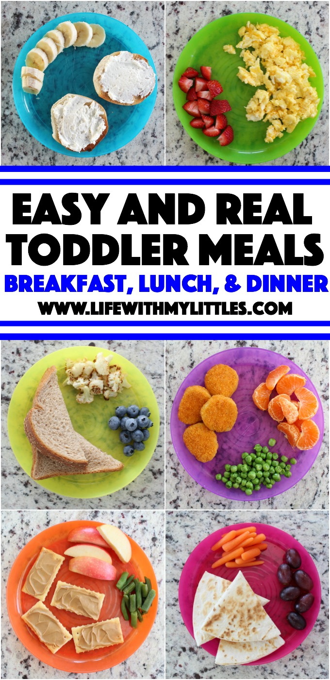 Easy, realistic toddler meal ideas for everyday, busy moms. The best toddler meals for breakfast, lunch, and dinner, plus snack ideas!