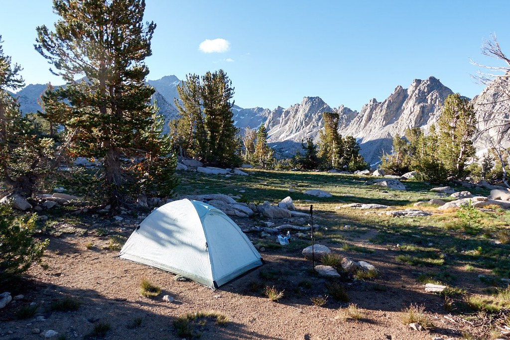 LOCUS GEAR Djedi DCF-eVent Dome Tent in Kings Canyon National Park.