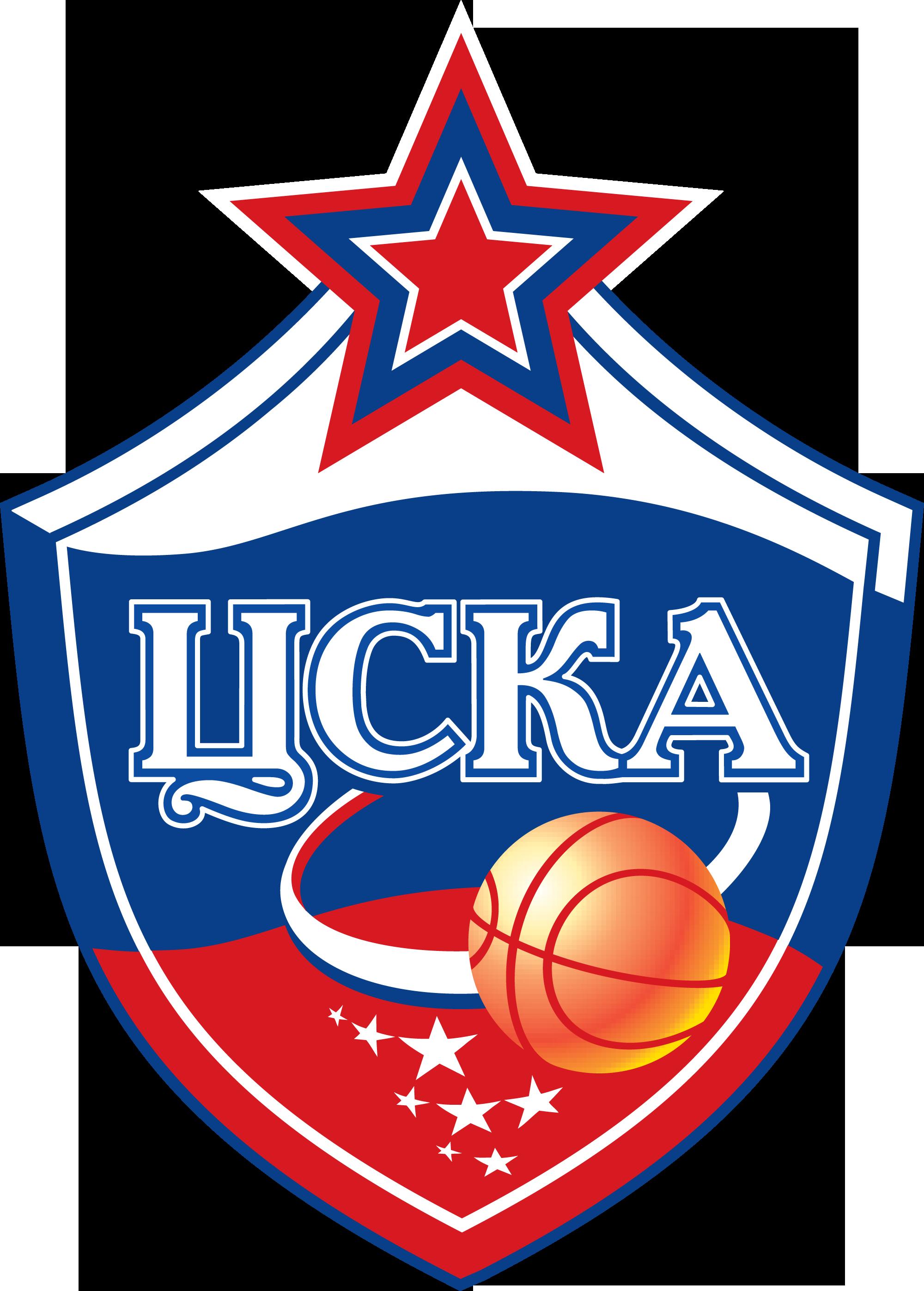 Эмблема и логотип баскетбольного клуба ЦСКА в векторе
