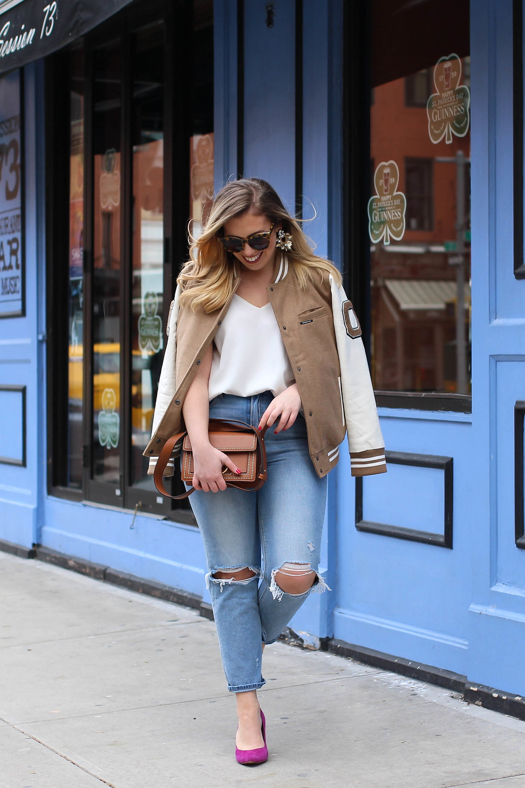 Are Varsity Jackets in Style in 2018? Living After Midnite Jackie Giardina NY Style Fashion Blogger