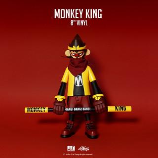 """緊箍咒也束縛不住的潮流力~! J.T Studio 8"""" Vinyl 系列【美猴王】Monkey King 搪膠人偶"""