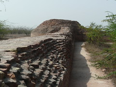 Fort on top of Agroha Mound