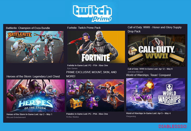 Selling - Twitch Prime Accounts 1 $ | PlayerUp Accounts