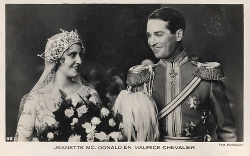 Jeanette McDonald and Maurice Chevalier in The Love Parade (1929)