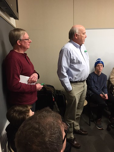 March 2018 Annandale Kids event Wayne Homren and Mike pAckard standing