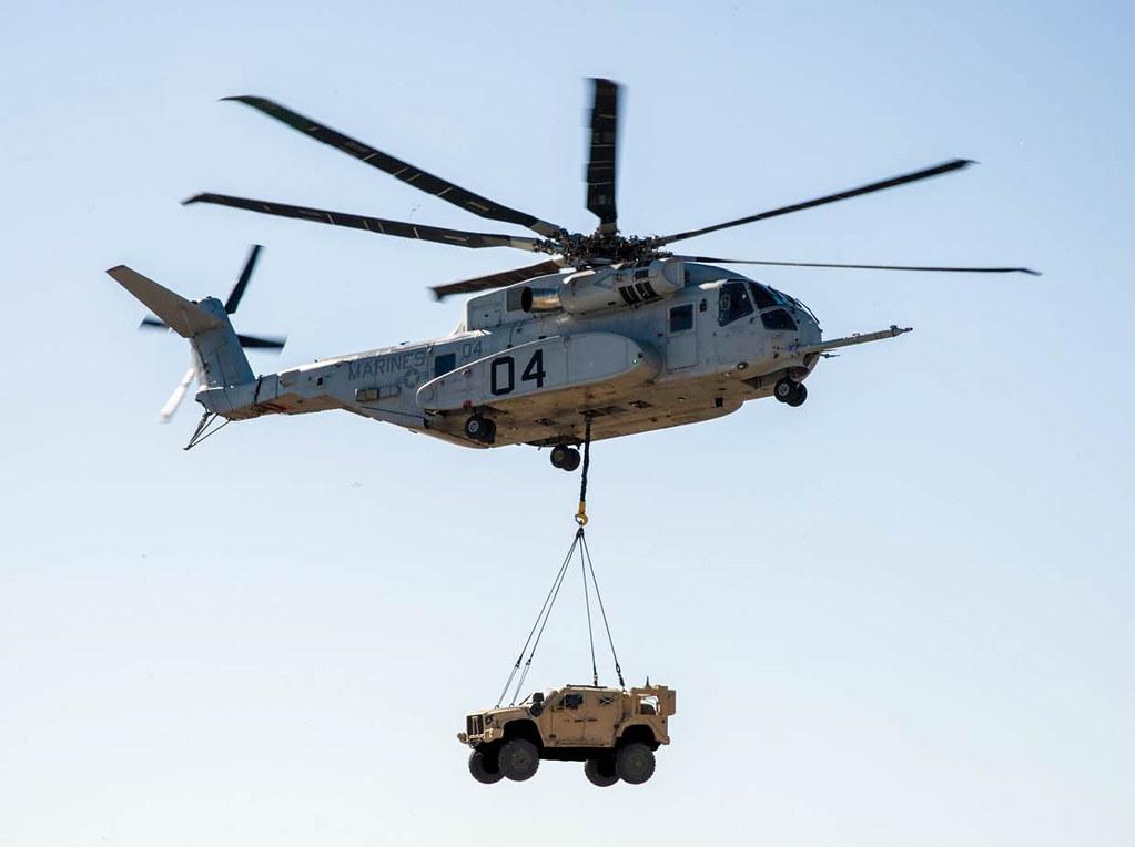 CH-53K Lifts 18,870-pound JLTV
