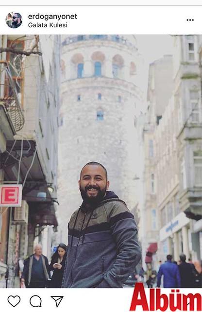 Erdoğan Yönet, Galata Kulesi'nde oldukça keyifli bir gün geçirdi.
