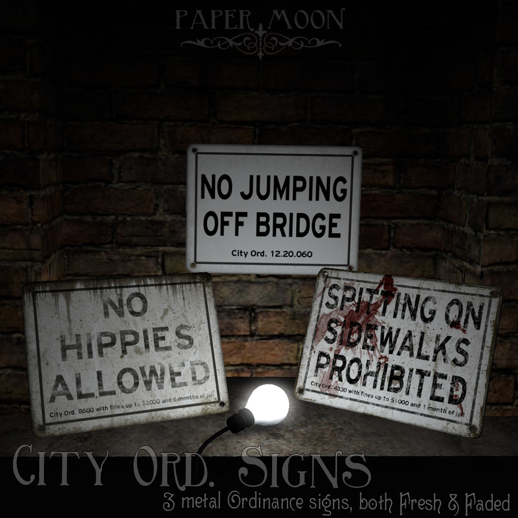 *pm* City Ord Signs poster