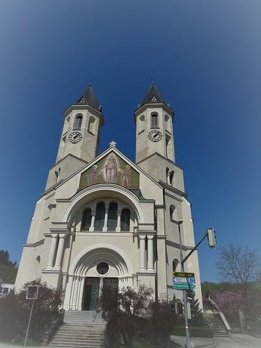Amstetten, Lower Austria (the art of listed church buildings at the center of Amstetten), Herz Jesu Kirche, Chiesa del Sacro Cuore, Iglesia del Sacré Cœur, l'église du Sacré-Cœur, Church du Sacré-Cœur (Preinsbacher Straße)