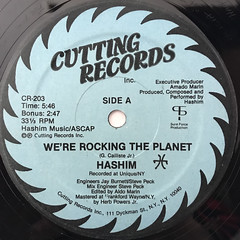 HASIM:WE'RE ROCKING THE PLANET(LABEL SIDE-A)