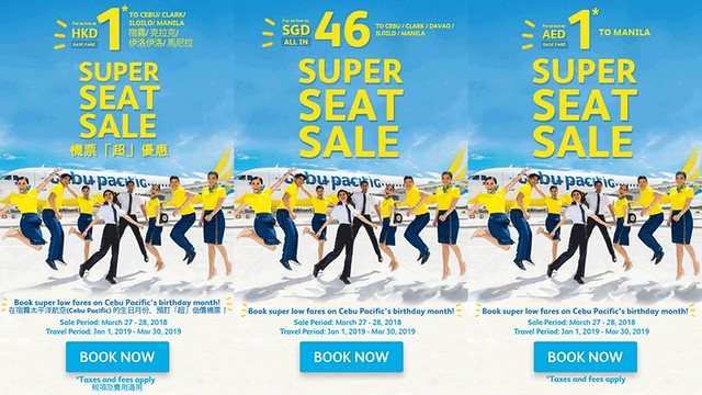 Super Seat Sale Cebu Pacific Promo Select Flights to the Philippines