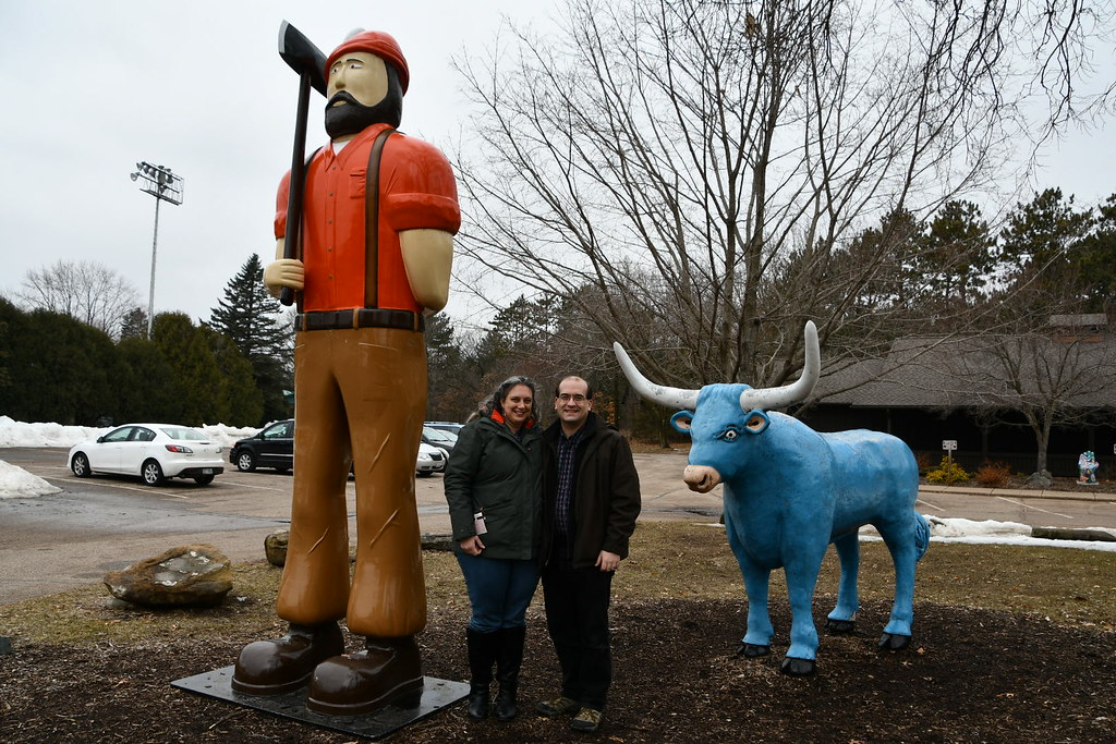 Paul Bunyan, the Rowlands and Babe, Eau Claire, WI