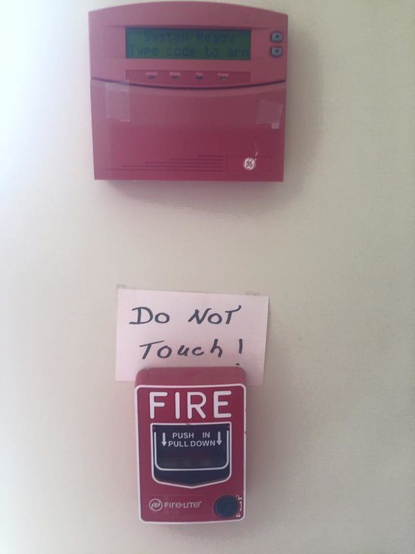 2018 03 fire alarm - do not touch