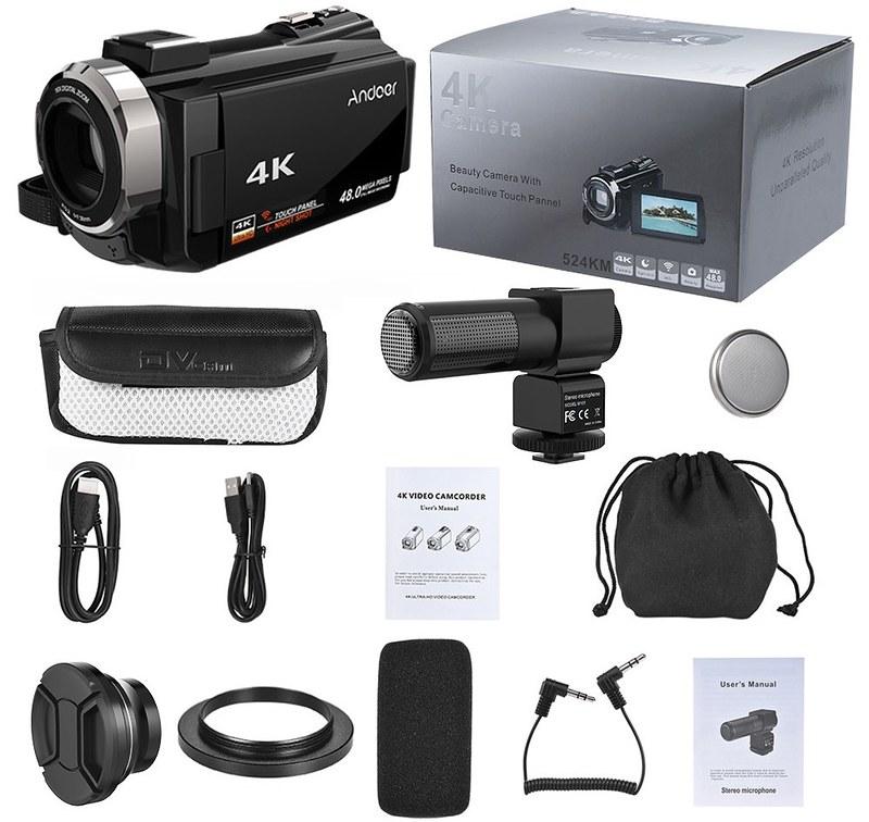 Andoer 4K ビデオカメラ (11)
