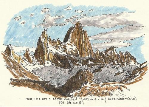 Fitz Roy  o Cerro Chaltén (3.405 m.s.n.m.)