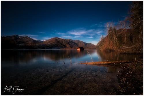 landschaft landscape österreich austria oberösterreich upperaustria berge mountains see lake salzkammergut almsee almtal outdoors abend evening