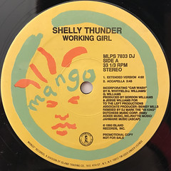 SHELLY THUNDER:WORKING GIRL(LABEL SIDE-A)