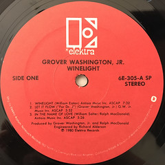 GROVER WASHINGTON, JR.:WINELIGHT(LABEL SIDE-A)