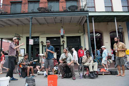 Second Hand Street Band on Royal Street during French Quarter Fest 2018 Day 2 - April 13, 2018. Photo by Michael E. McAndrew Photography.