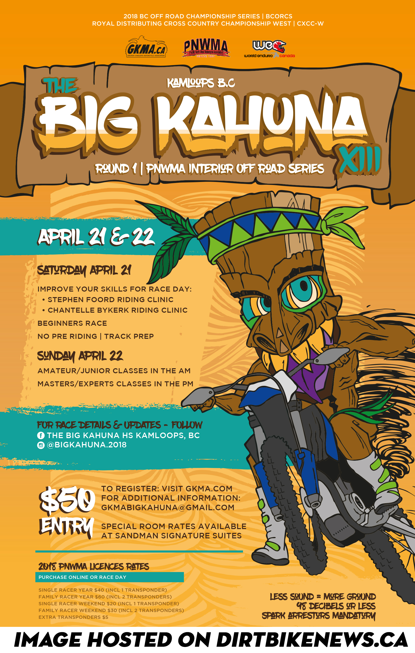 Big kahuna full size race poster