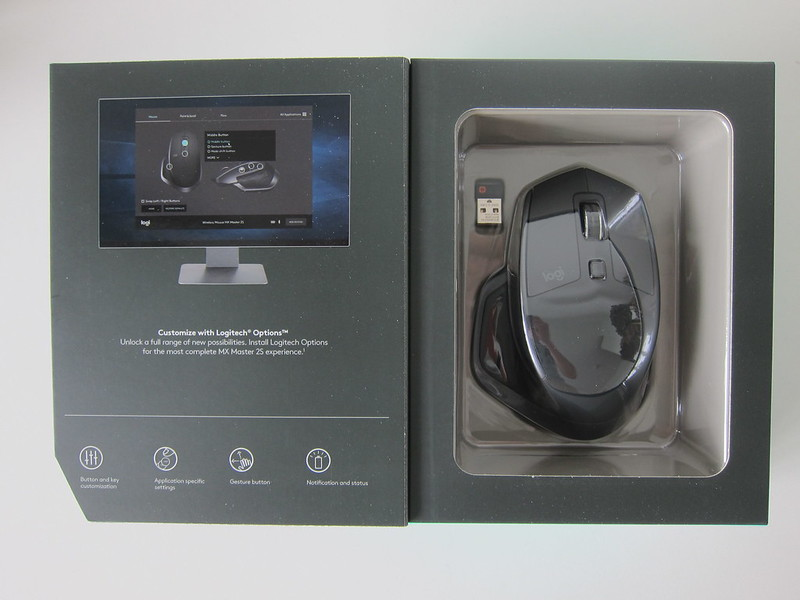 Logitech MX Master 2S Wireless Mouse - Box Open
