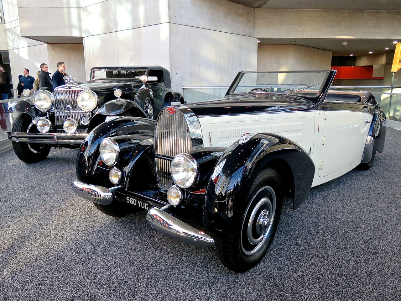 Bugatti and a Packard at NYIAS