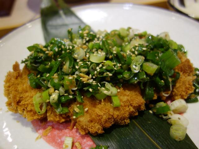 香蔥蒜鹽豬排定食 (NTD$290)@桃園恆八味屋日式豬排專賣店