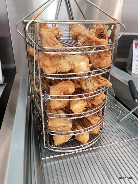 freshly fried chicken