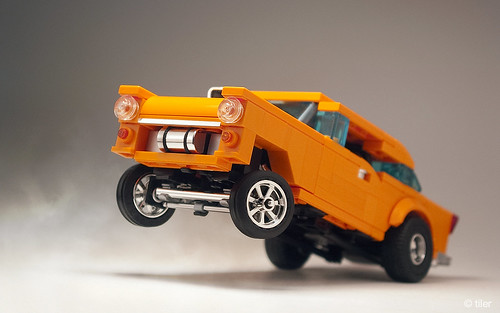 """Orange Krate"" - '55 Chevy Gasser"