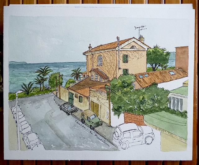 Toulon, depuis le balcon, Panasonic DMC-FS16